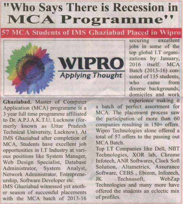 Recession-in-MCA-Programme