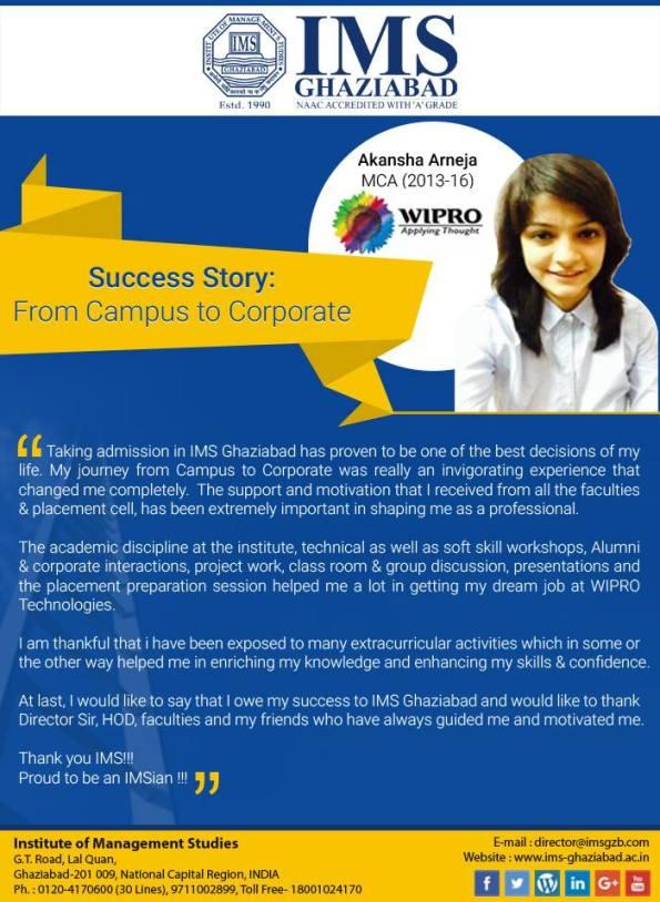MCA Success Story